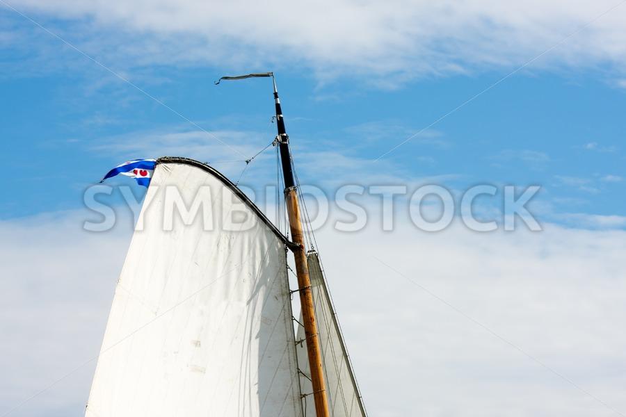 Flying frisian flag - Jan Brons Stock Images