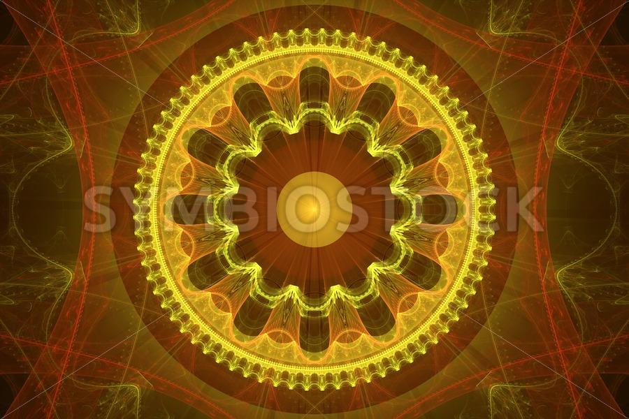 Fractal wheel - Jan Brons Stock Images