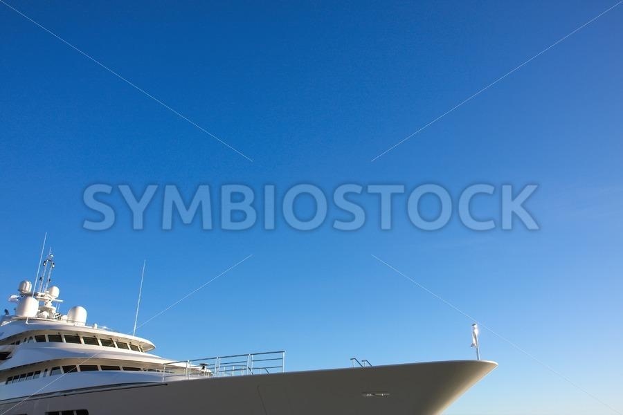 Motor yacht blue yonder. - Jan Brons Stock Images