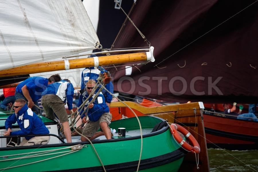 Skustje achterdek actie - Jan Brons Stock Images