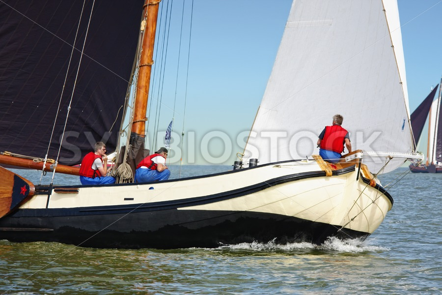 Skutsje foredeck - Jan Brons Stock Images