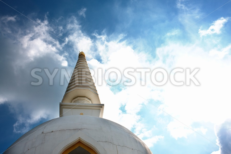 Stupa and bright sky - Jan Brons Stock Images