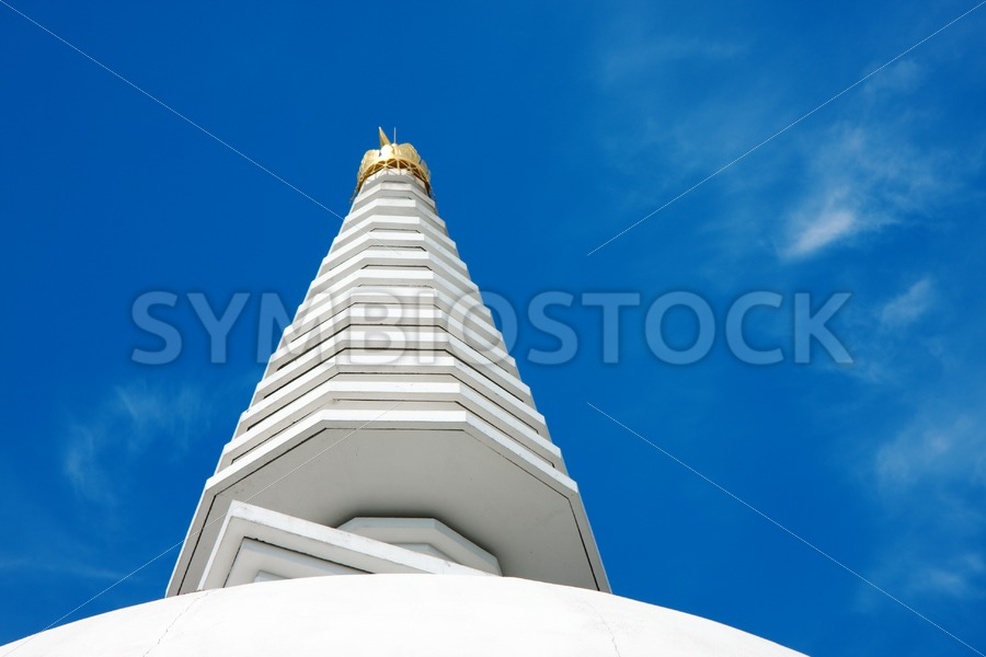 Stupa reaching for the sky - Jan Brons Stock Images