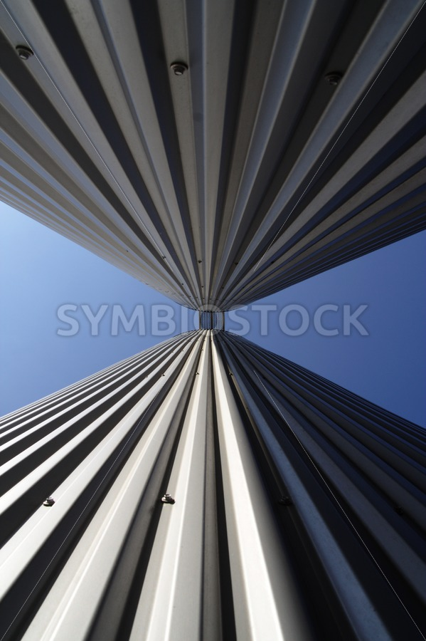 Two silos in perspective - Jan Brons Stock Images
