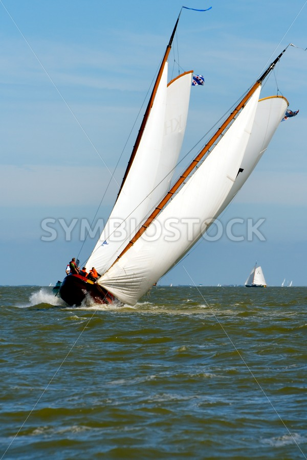 Two skutsjes front view - Jan Brons Stock Images