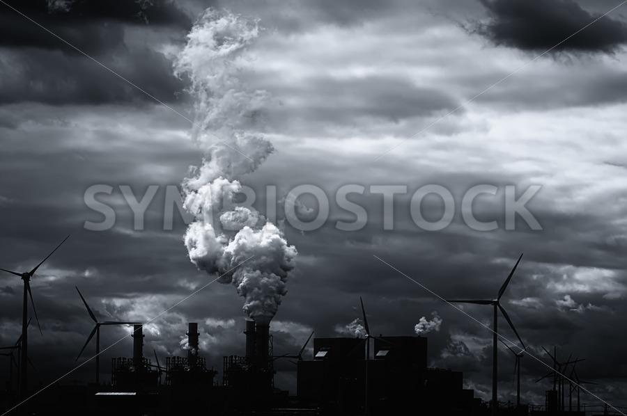 Grim black white energy landscape - Jan Brons Stock Images
