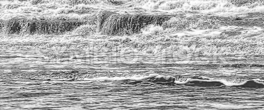 Sea Waves Abstract - Jan Brons Stock Images