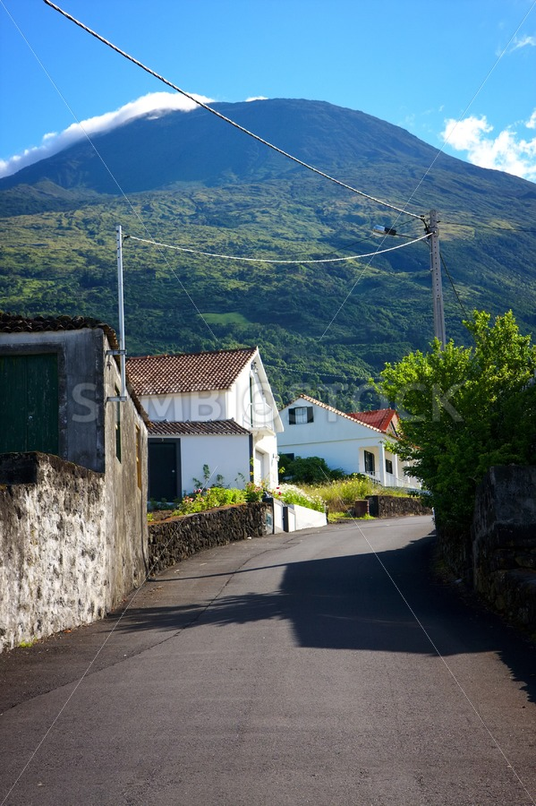 Pico Island Azores street - Jan Brons Stock Images