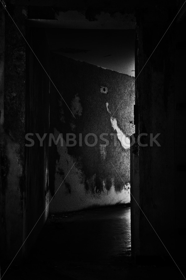 Dark corridor - Jan Brons Stock Images