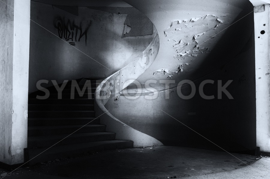 Staircase Abandoned Hotel - Jan Brons Stock Images