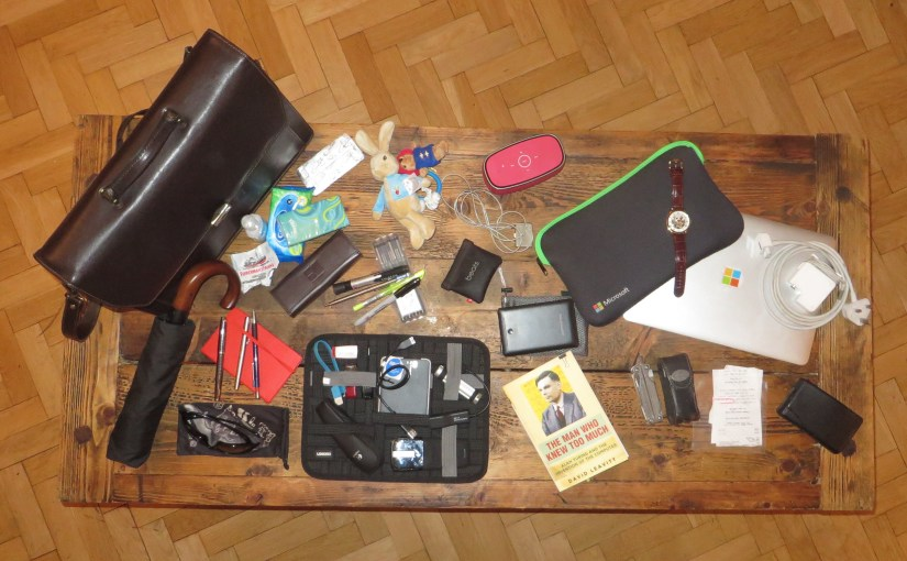 Discover what's inside my man bag…