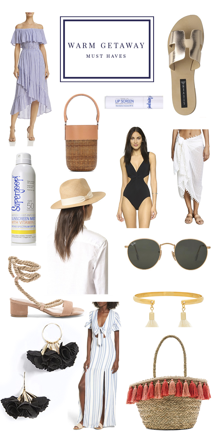 Warm Getaway Must Haves