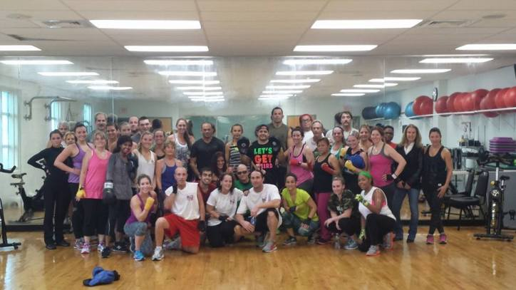 Boxx for Tots Class held on Friday, December 19 at 12 noon led by Trainer Jon Simon (center) at the Katz JCC attracted more than 50 boxers.