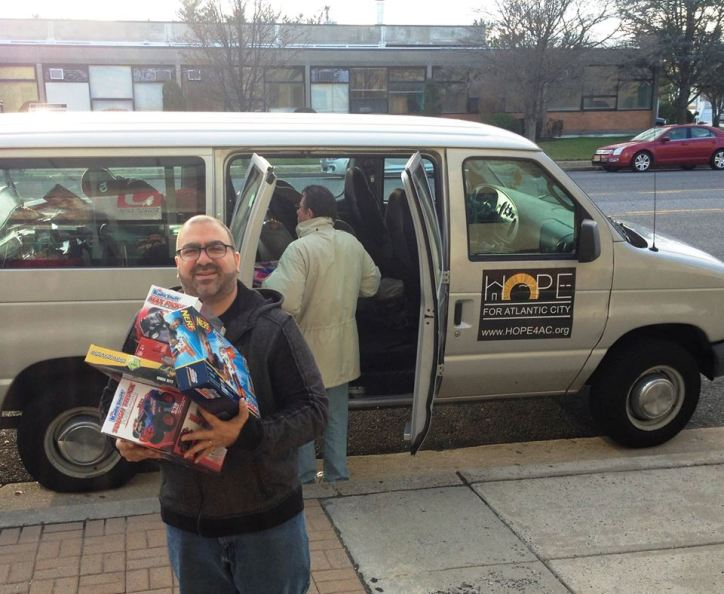 Representatives of HOPE for Atlantic City picked up a few toys for needed children from the Katz JCC collected through the Boxx for Tots program.