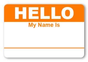 Hello Sticker Orange