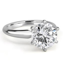 Antique Diamond Solitaire Engagement Ring Jean Pierre Jewelers Round Cut Engagement Rings Cheap Round Cut Engagement Rings On Finger wedding rings Round Cut Engagement Rings