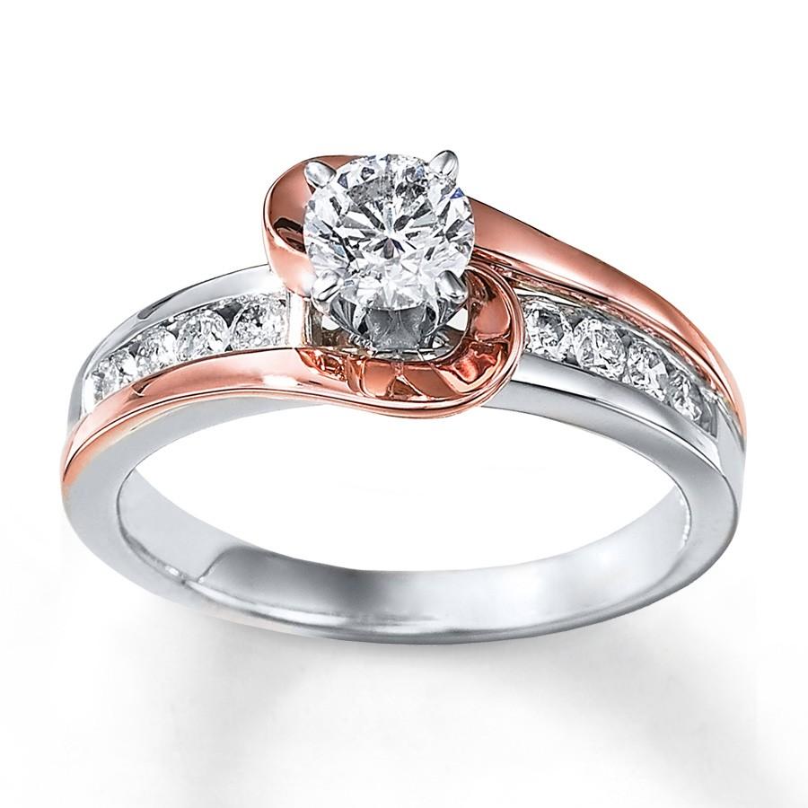 rose gold wedding rings Morganite Engagement Ring Set in 14K Rose Gold Halo Diamond Setting 1 50 via Etsy