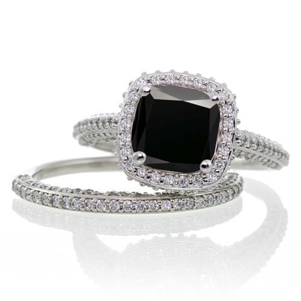 princess cut halo set halo wedding ring sets Halo CZ Wedding Ring Set Roll Off Image to Close Zoom Window