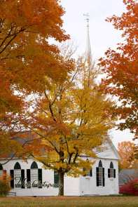 White church in New Salem Massachusetts