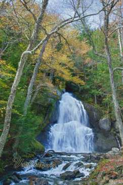 Moss glen falls in autumn
