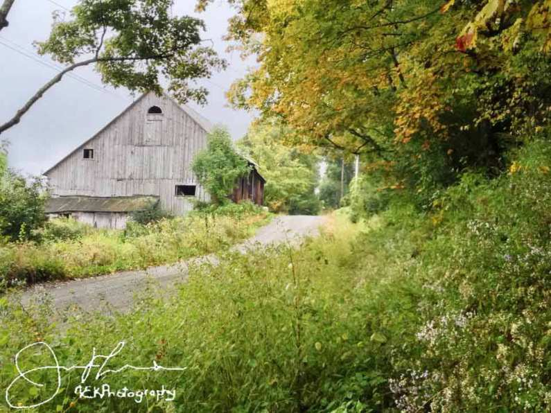 Barn with yellow foliage colors Norwich VT