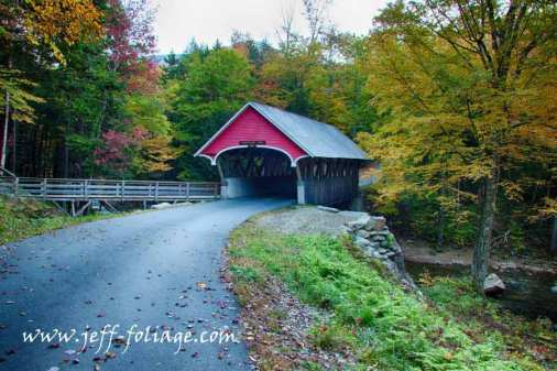 Flume Covered Bridge in Franconia State Park.