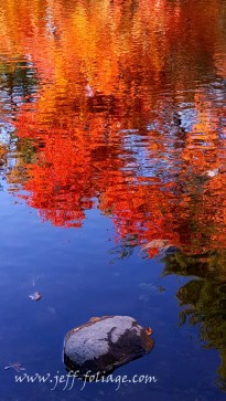 reflection of the colors on the fall colors on the water