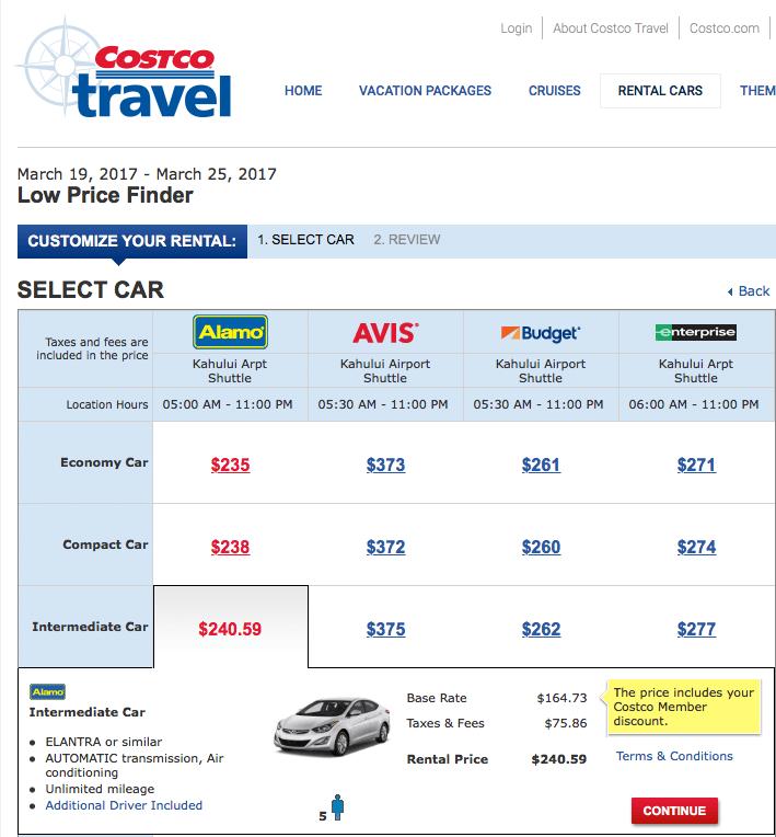 Costco Member Discount Car Rental