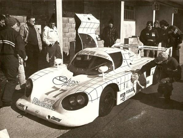 1987 - Testing of Prototype Lola Porsche