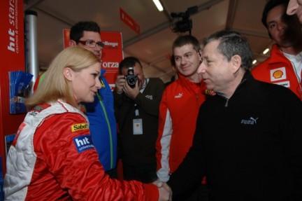 Jean Todt congratulates Nina