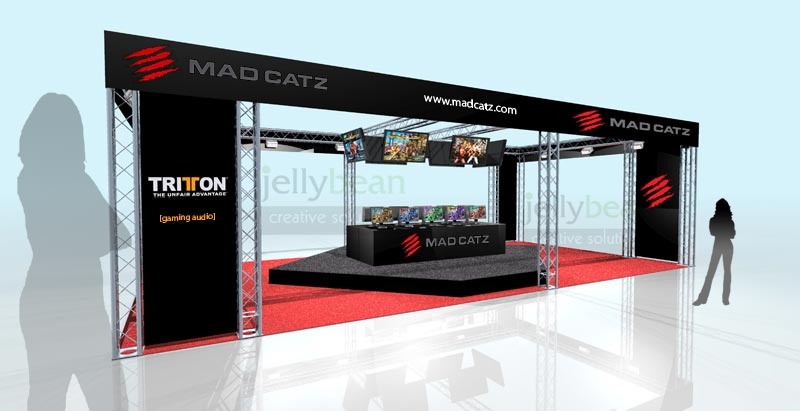 Exhibition stand design Madcatz Gaming