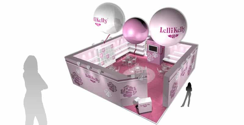 Exhibition stand design Lelli Kelly