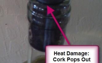 Heat Damaged Cork