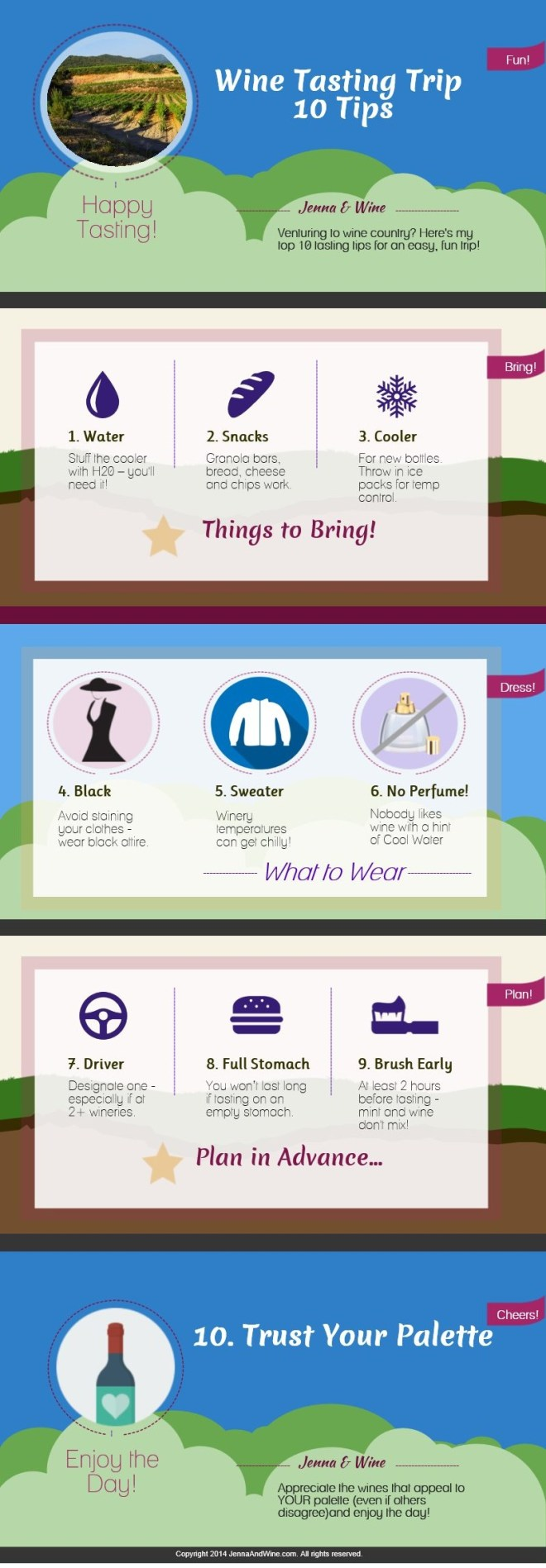 Infographic: Top 10 Wine Trip Tips