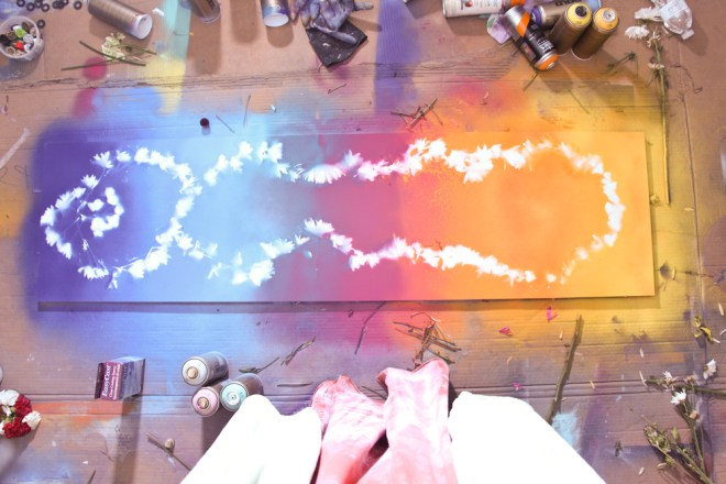 Jenna Citrus Art Rainbow Painting IMG_2383