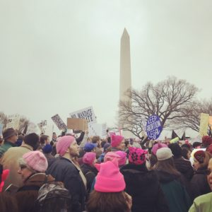 Protesting in front of Washington Monument