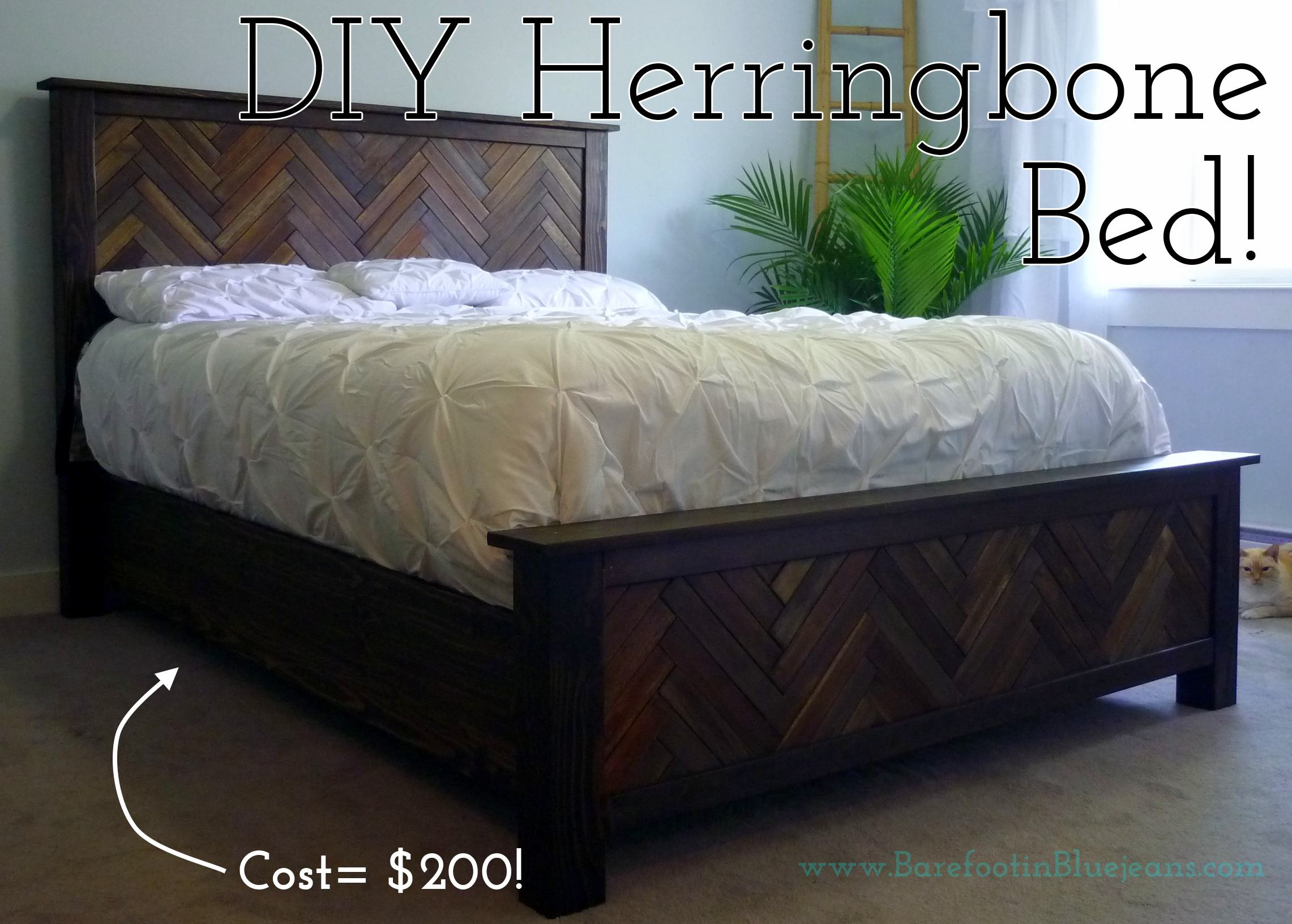 DIY Project How To DIY Herringbone Bed