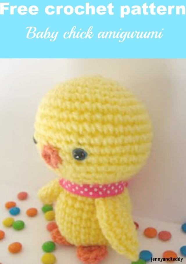 baby chicken amigurumi free crochet pattern by jennyandteddy