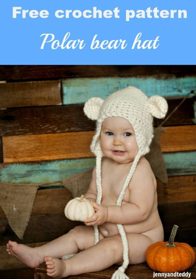 Free crochet pattern polar bear hat by jennyandteddy