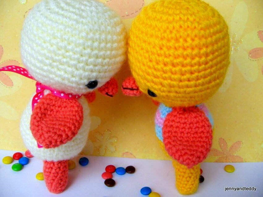 Amigurumi Duck Free Crochet Pattern : Two little ducky amigurumi crochet pattern