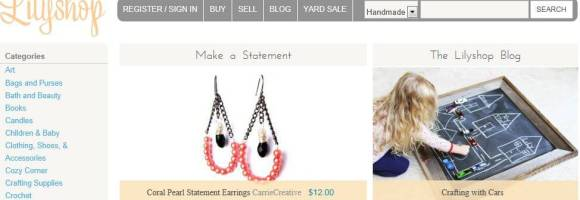 lillyshop new handmade marketplace for crafter