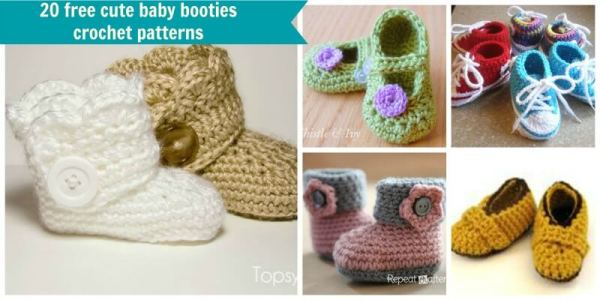 20 free crochet baby booties patterns dt1010fo