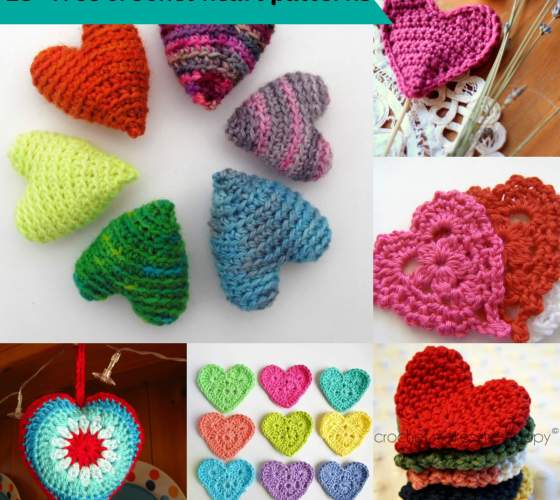 25+ free & easy crochet heart patterns