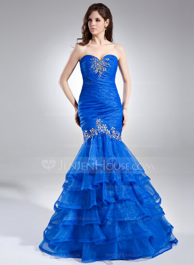 mermaid look prom dress