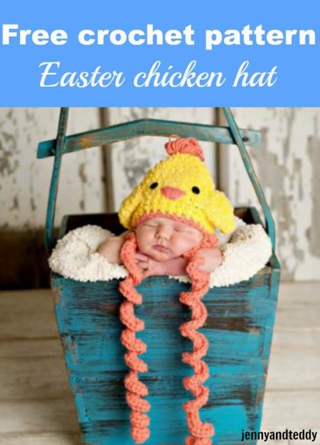 free crochet pattern easter chicken hat by jennyandteddy