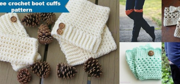 30+free & easy crochet boot cuffs patterns
