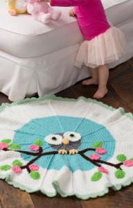 11.owl baby blanket free crochet
