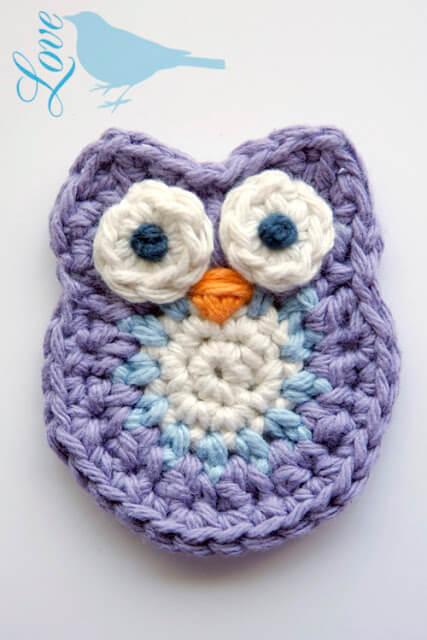 5. easy owls crochet applique