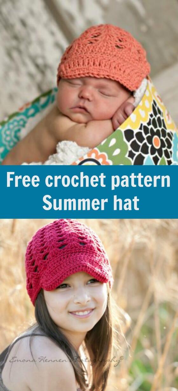 free crochet pattern summer hat by jennyandteddy