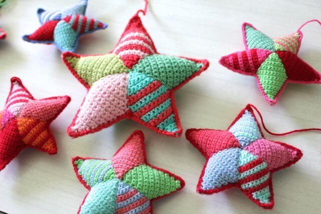 Amigurumi Christmas Free Patterns : Free easy crochet stars patterns